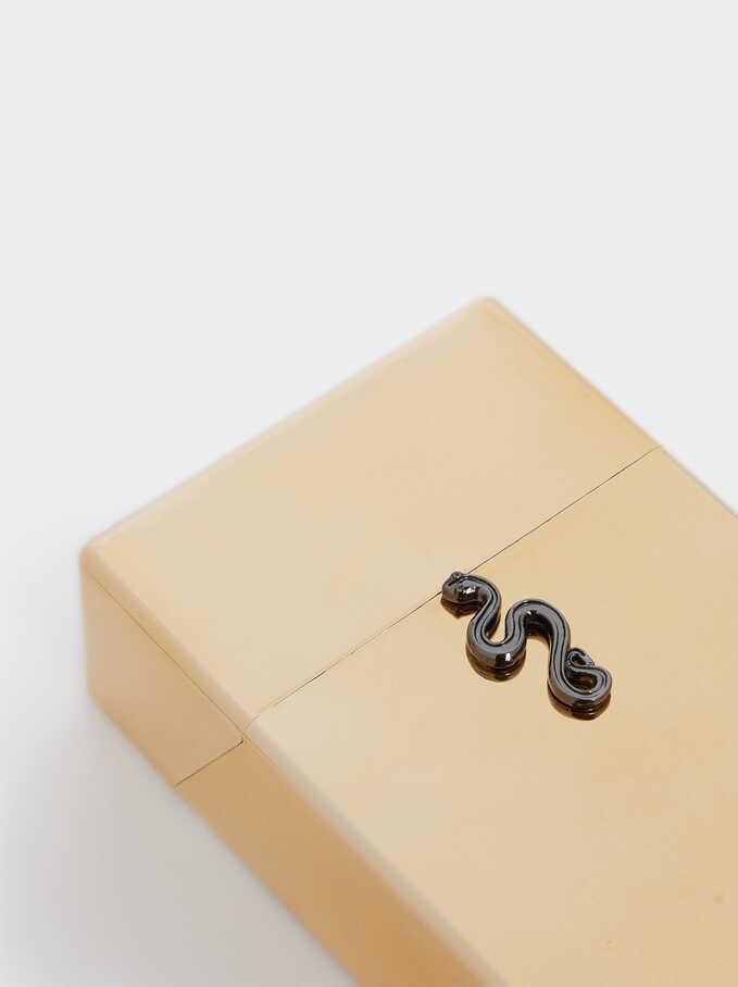 Caja De Mascarilla Serpiente, Dorado, hi-res