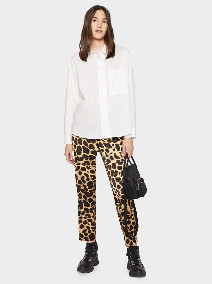 Animal Print Trousers, Golden, hi-res