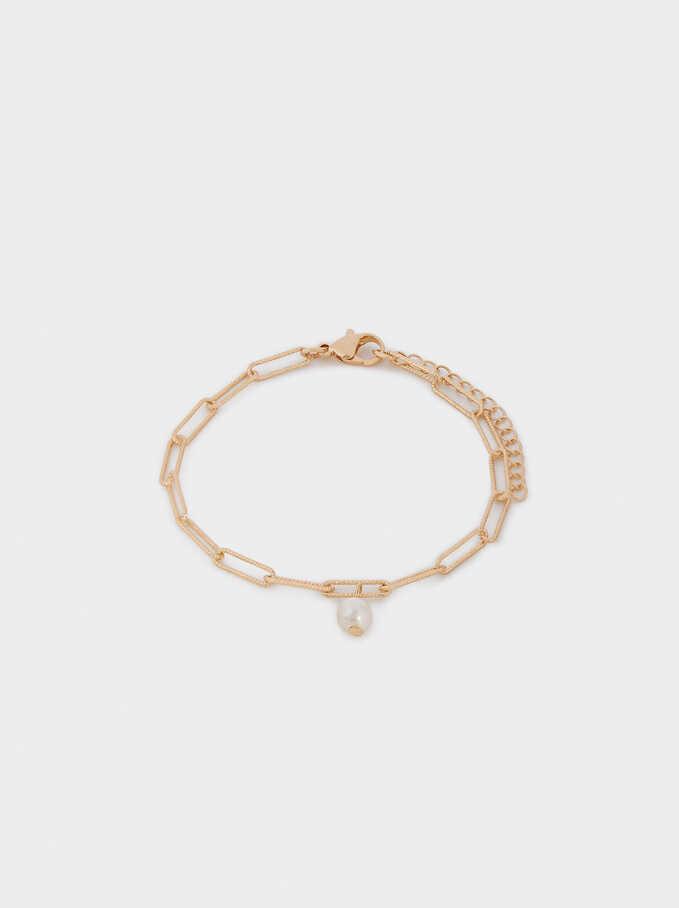 Bracelet Avec Perle, Doré, hi-res