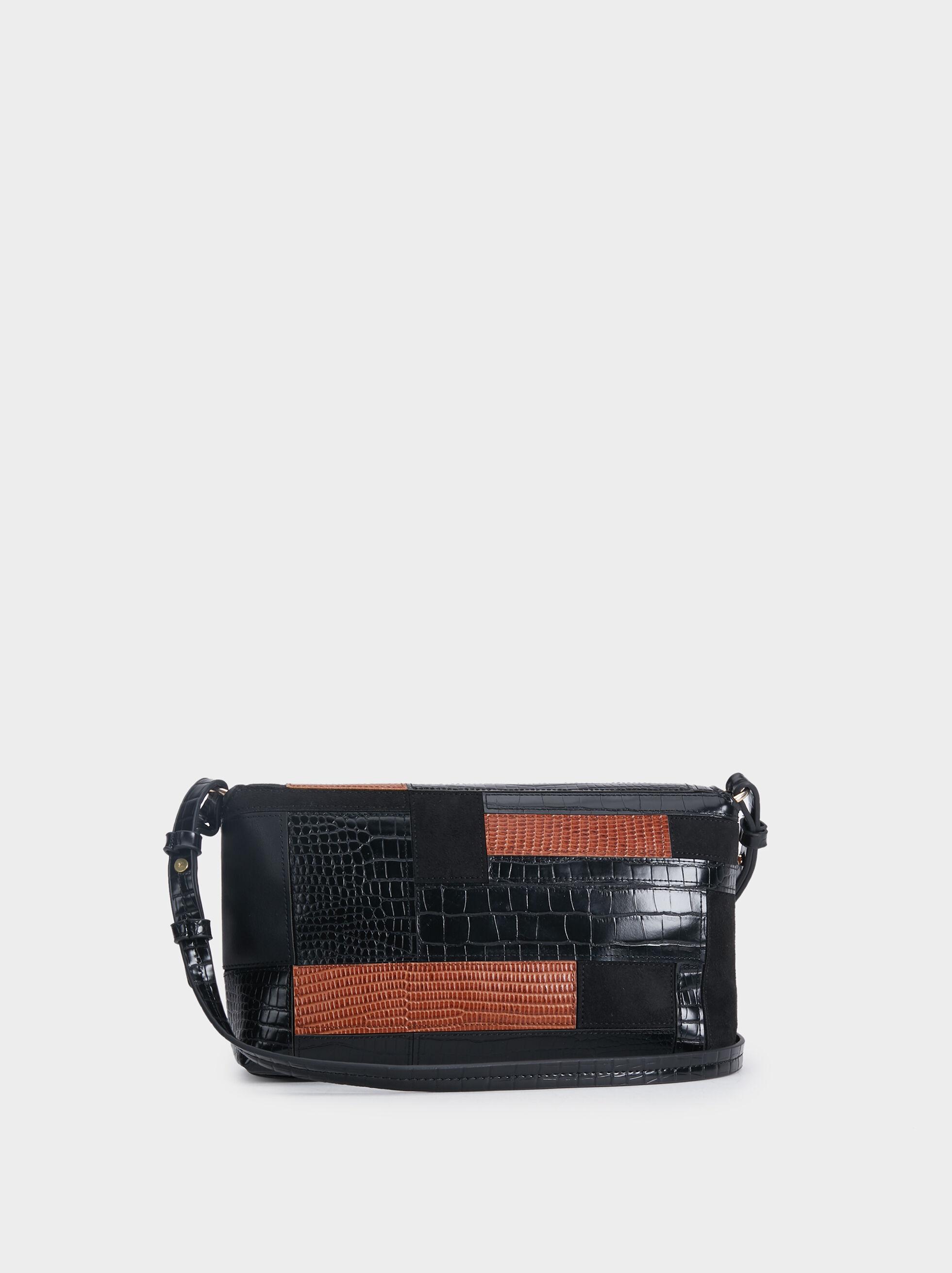 Patchwork Handbag, Black, hi-res