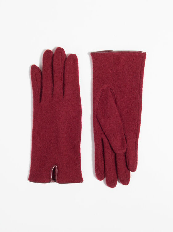 Basic Gloves, Burgundy1, hi-res