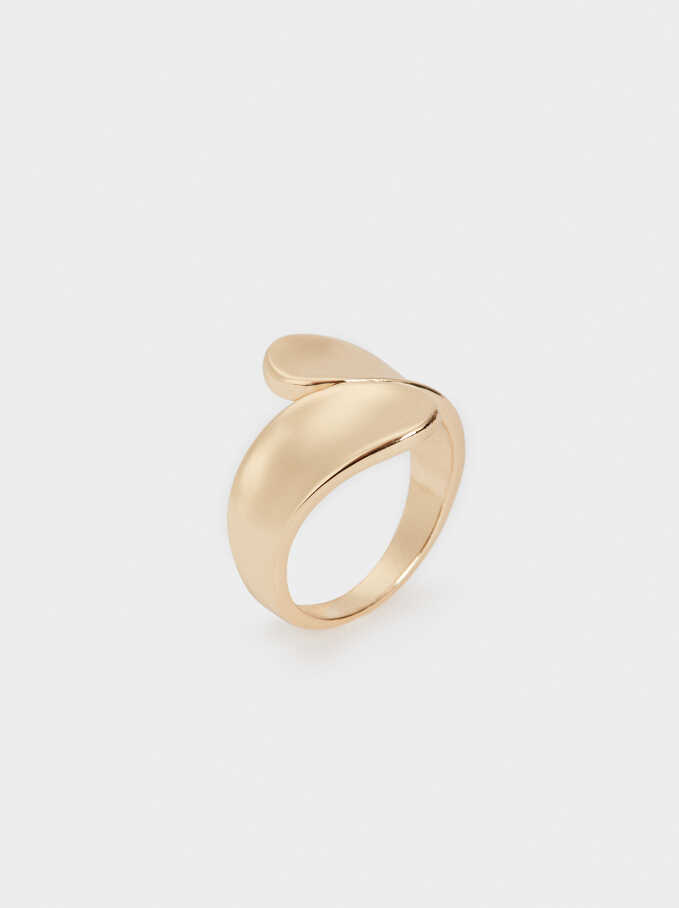 Gold Spiral Ring, Golden, hi-res
