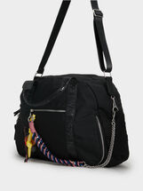 Nylon Sports Bag, Black, hi-res
