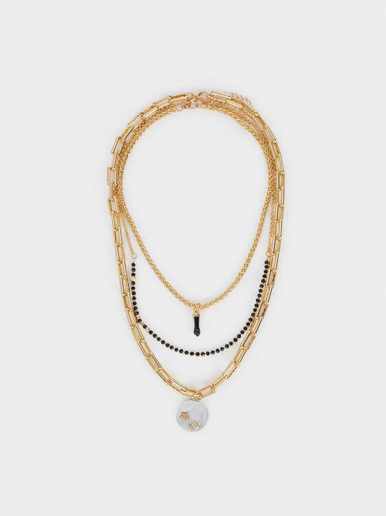 Hoop Fever Set Of Necklaces, Black, hi-res