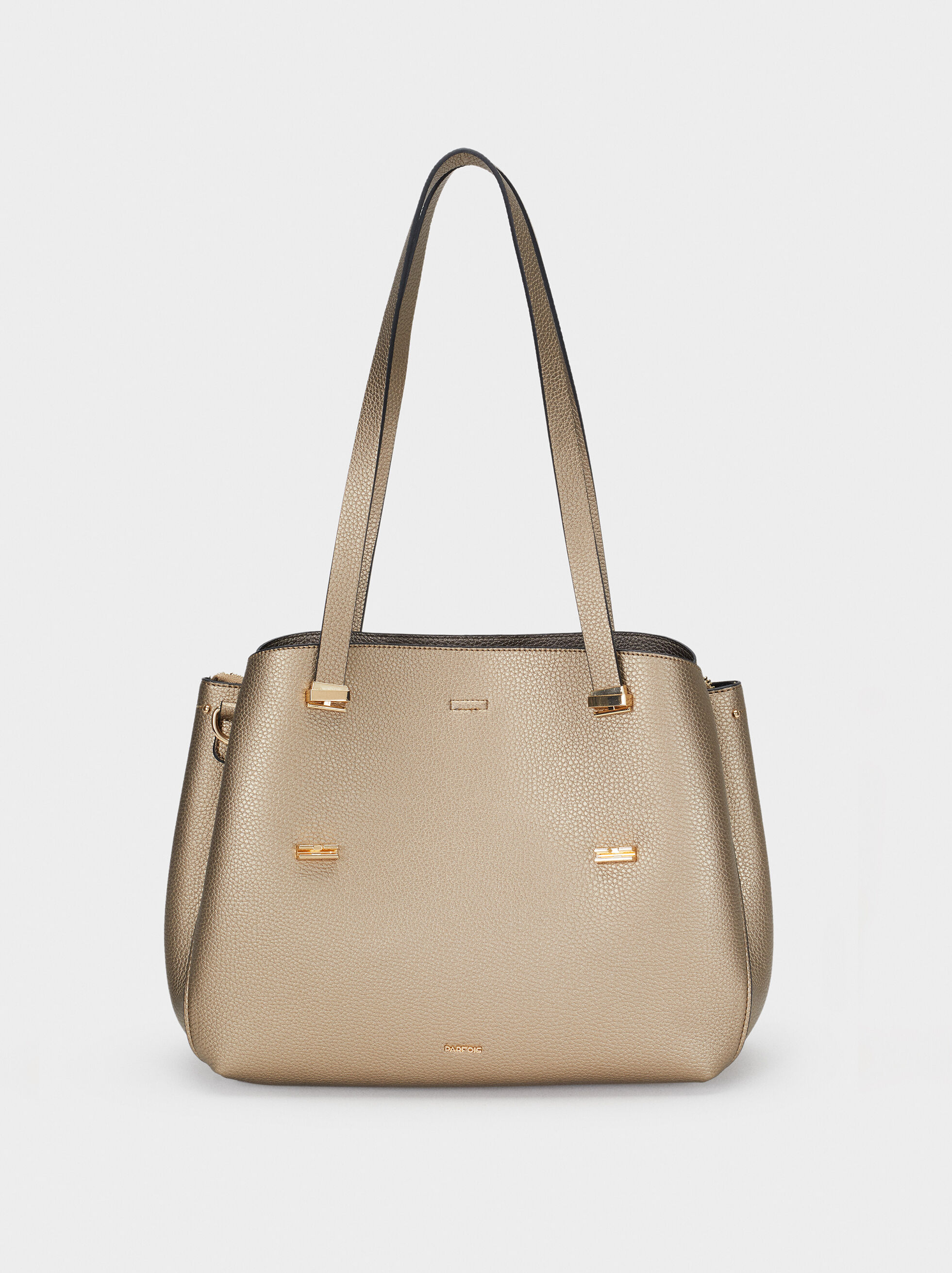 Embossed Tote Bag, Golden, hi-res