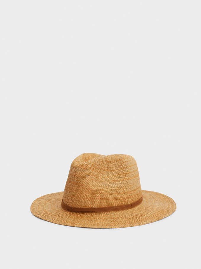 Braided Hat With Contrast Band, Camel, hi-res