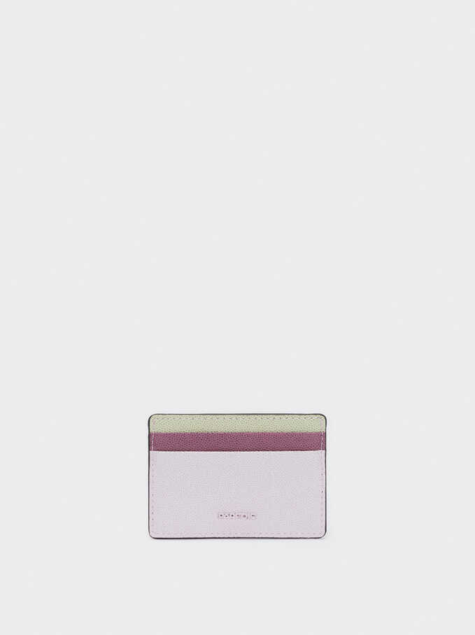 Embossed Card Holder, Violet, hi-res