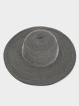 Stripy Hat, Grey, hi-res