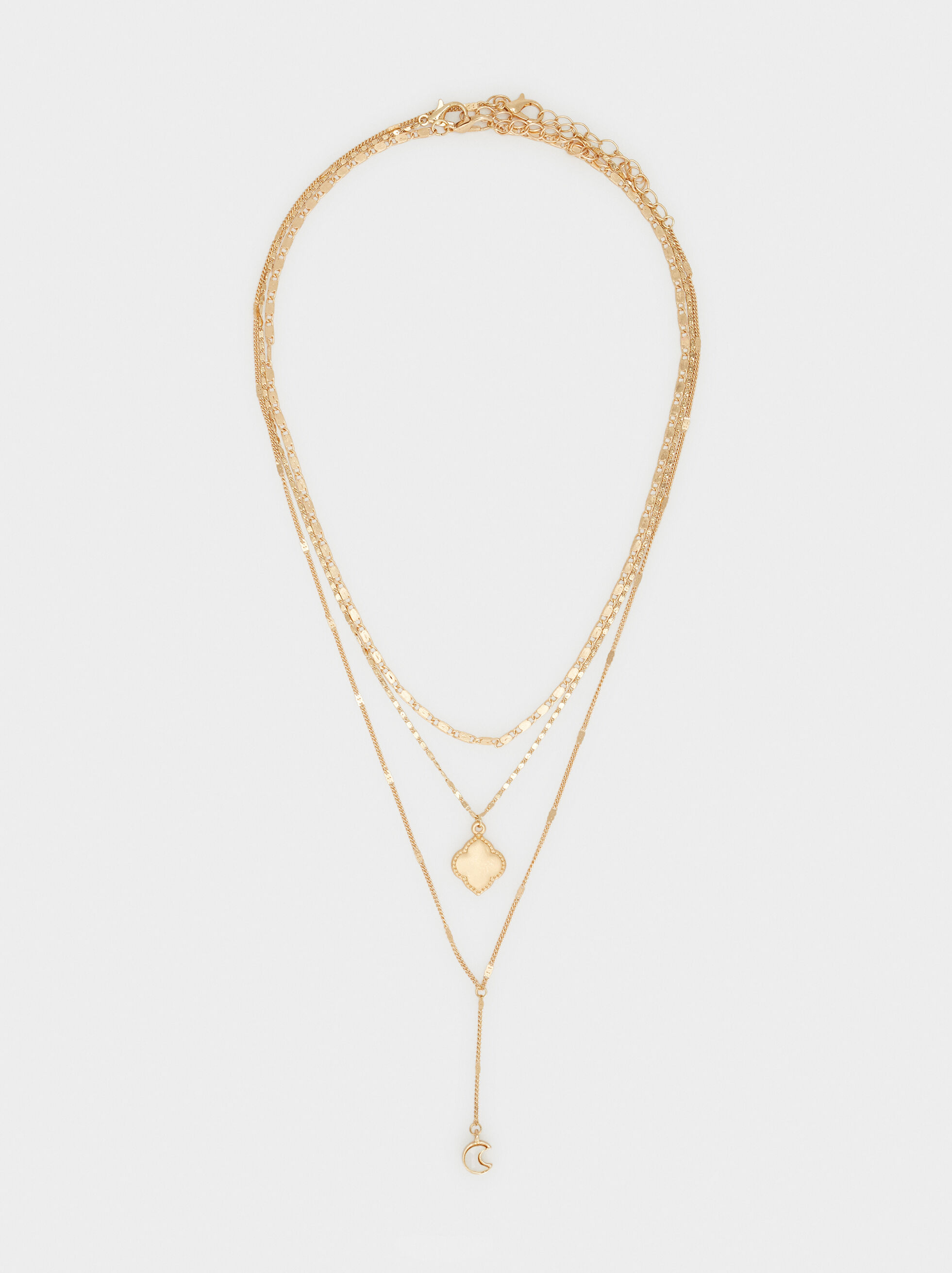 Creme Necklace Set, Golden, hi-res