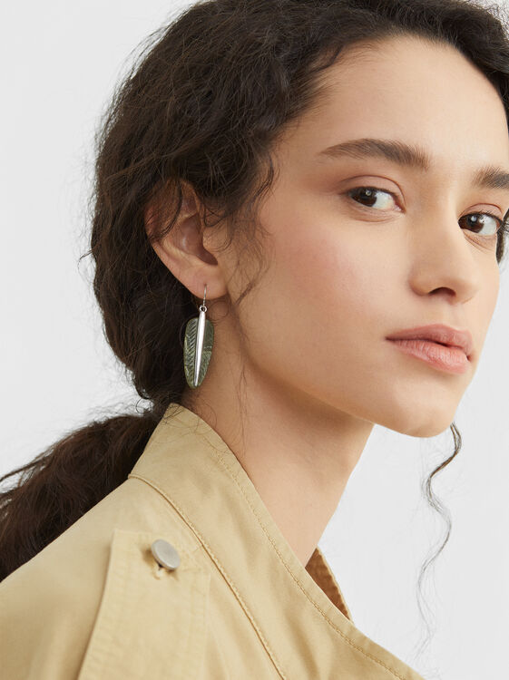 Star Valley Medium Earrings, Green, hi-res