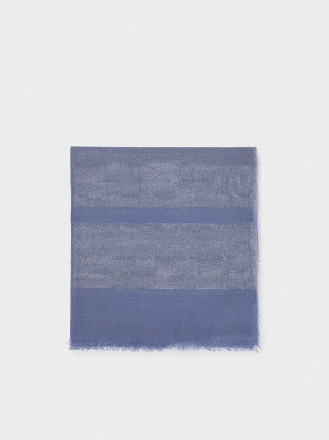 Formal Pocket Square, Blue, hi-res
