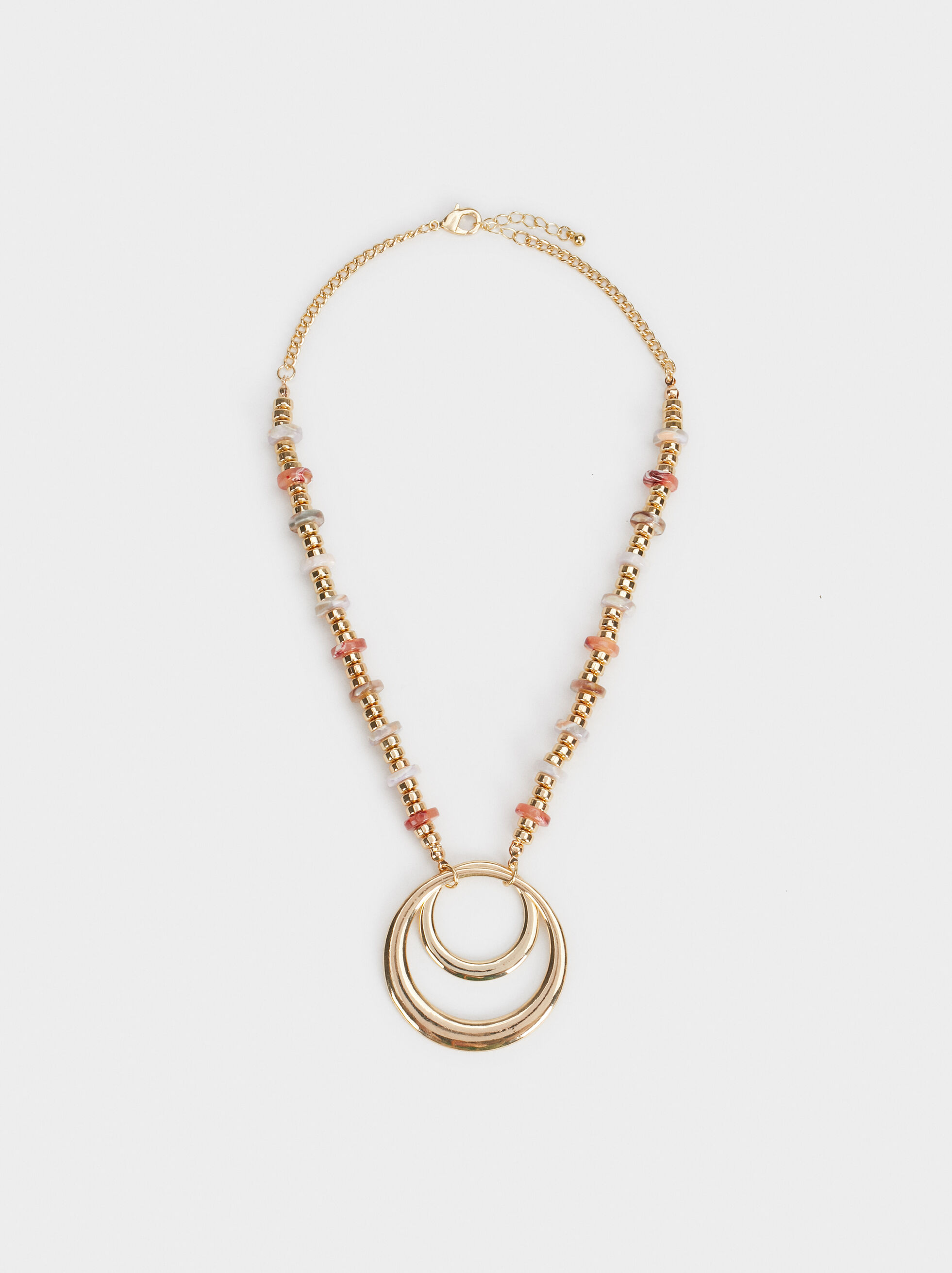 Land Short Necklace With Pendant, Multicolor, hi-res
