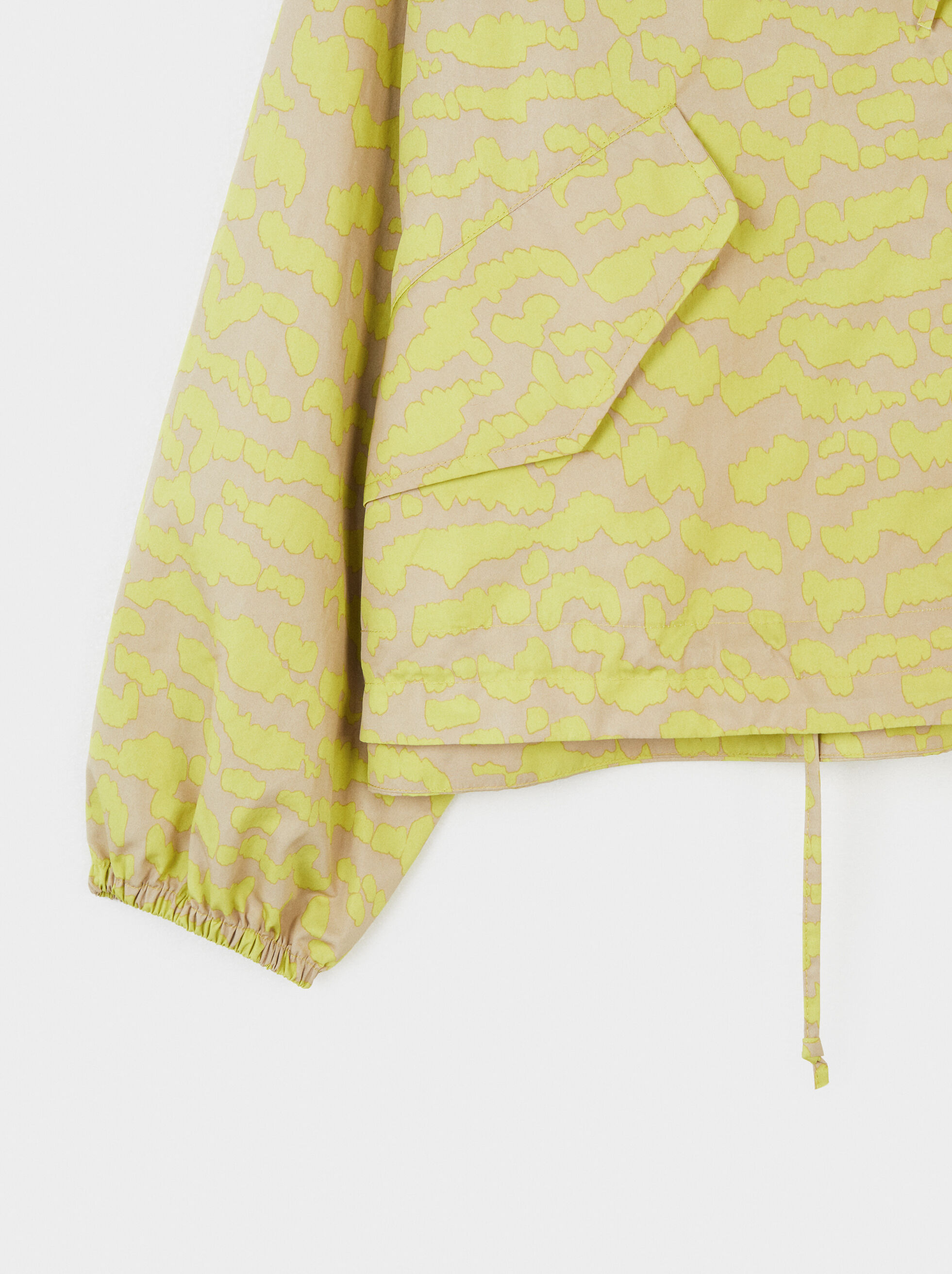 Lightweight Jacket With An Animal Print, Yellow, hi-res