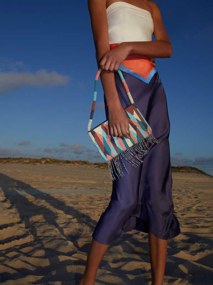Limited Edition Long Skirt, Blue, hi-res