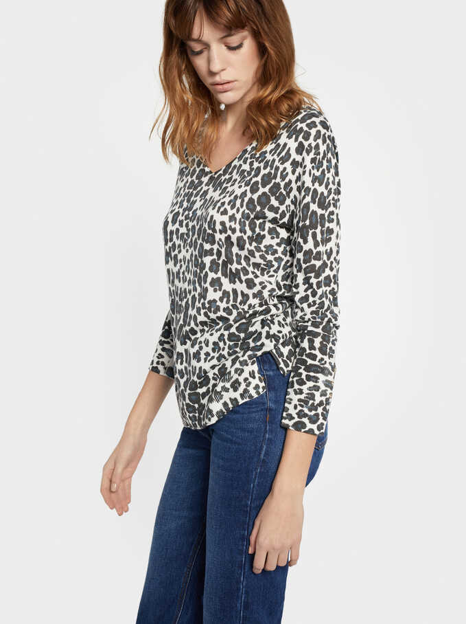 Jersey Animal Print, Multicor, hi-res