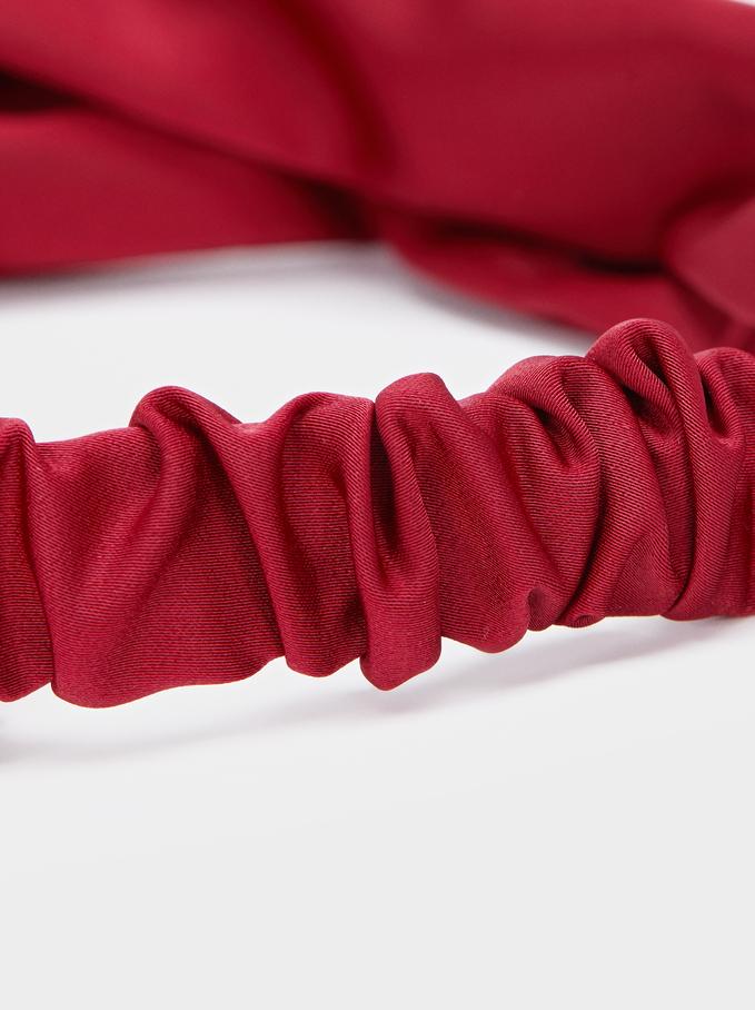 Fascia Stile Turbante Stampa Multicolore, Rosso, hi-res