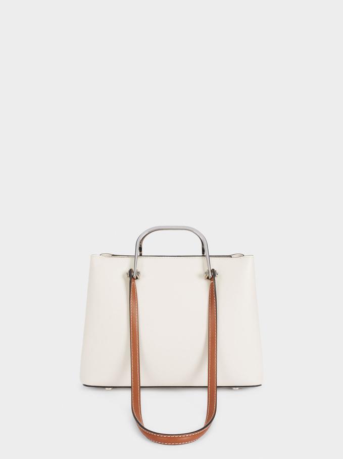 Shopper Bag With Multi-Way Handles, Ecru, hi-res