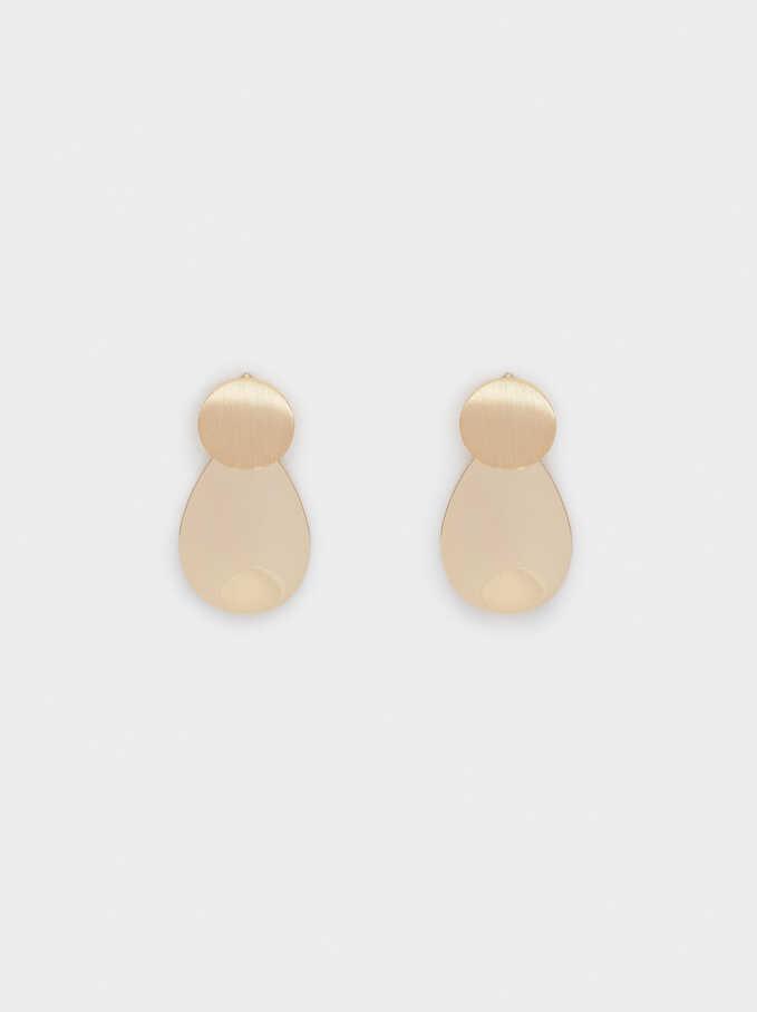 Basic Stud Earrings, Golden, hi-res