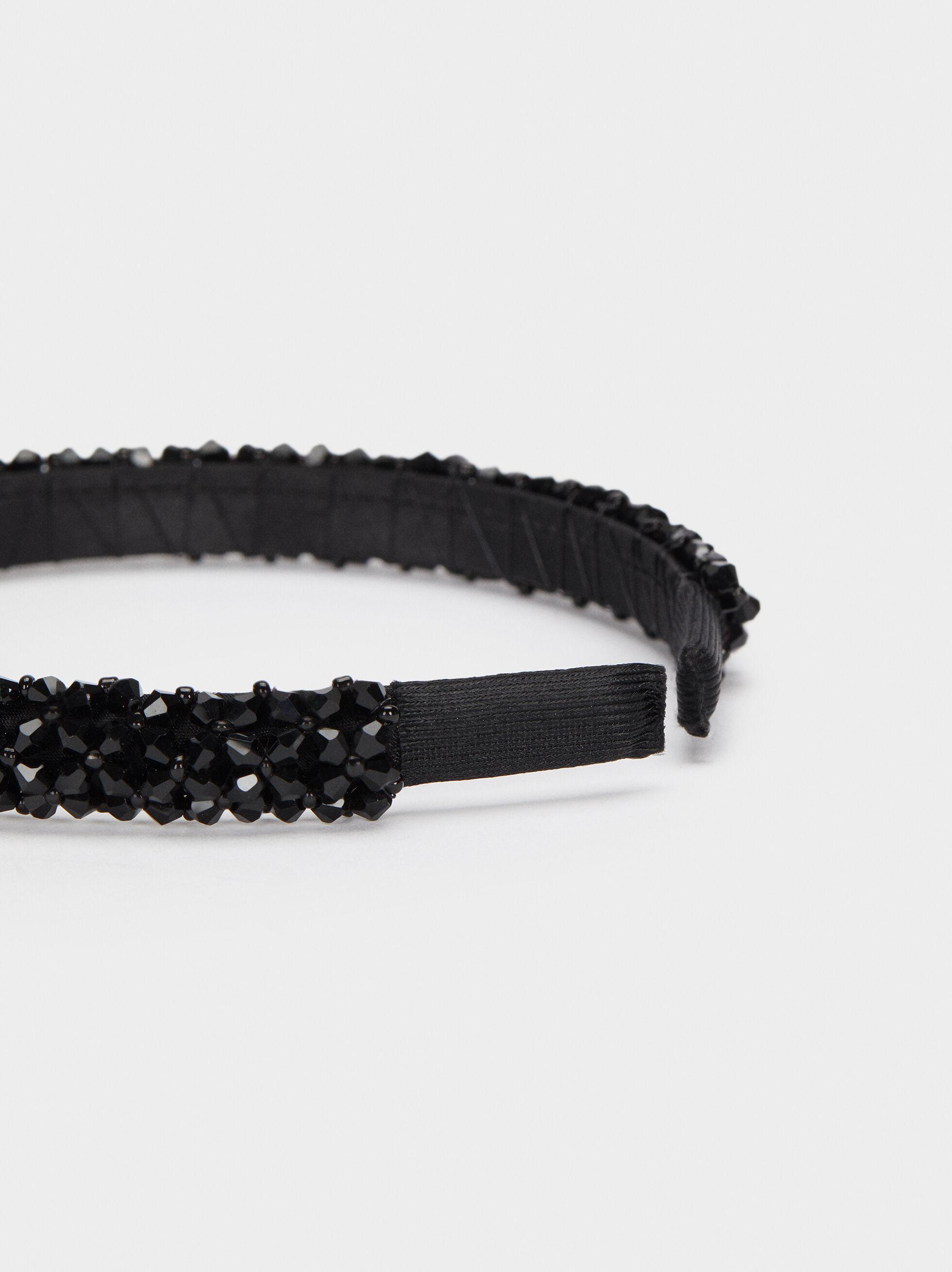 Bead Headband, Black, hi-res