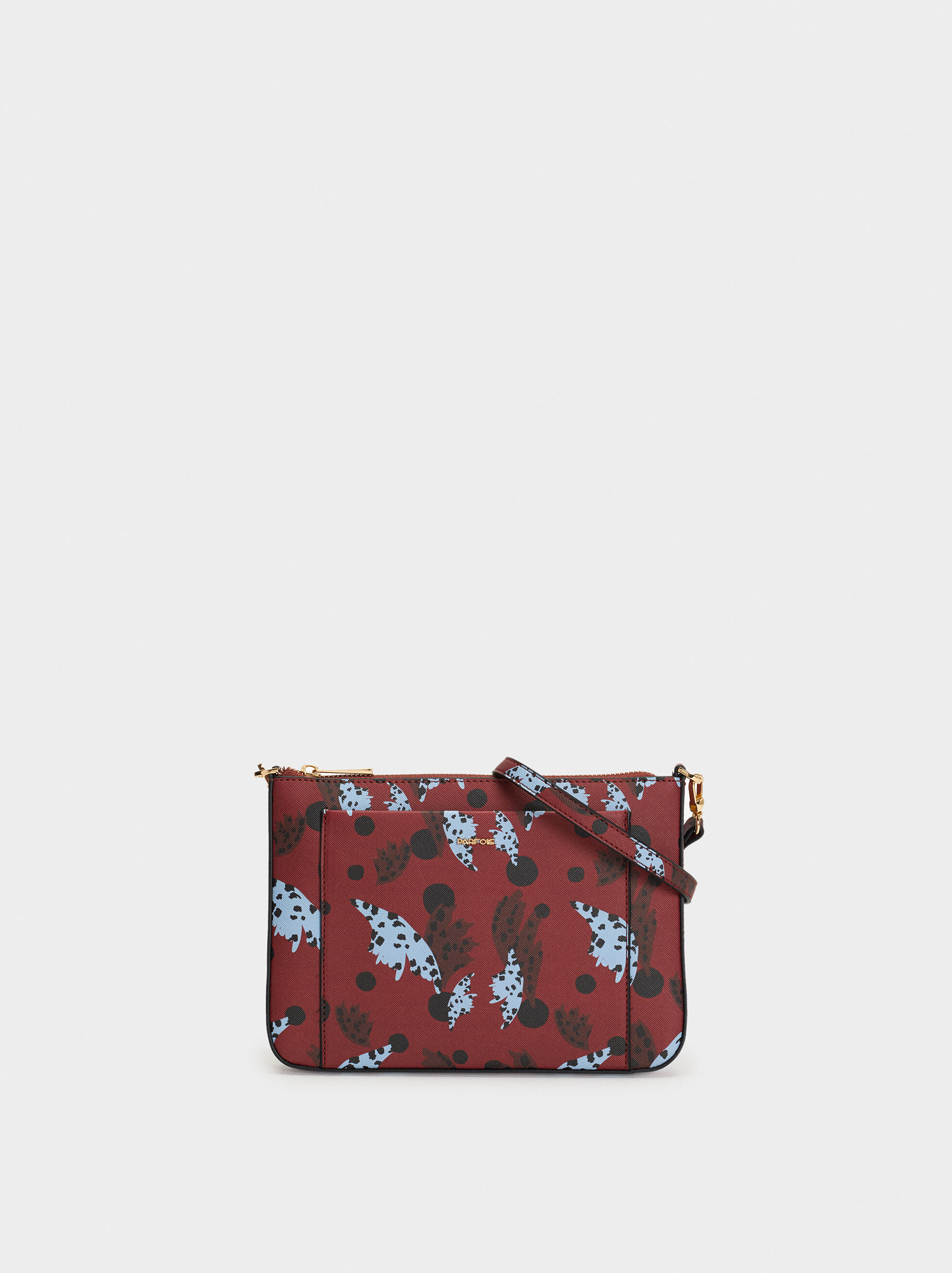 Printed Shoulder Bag, , hi-res