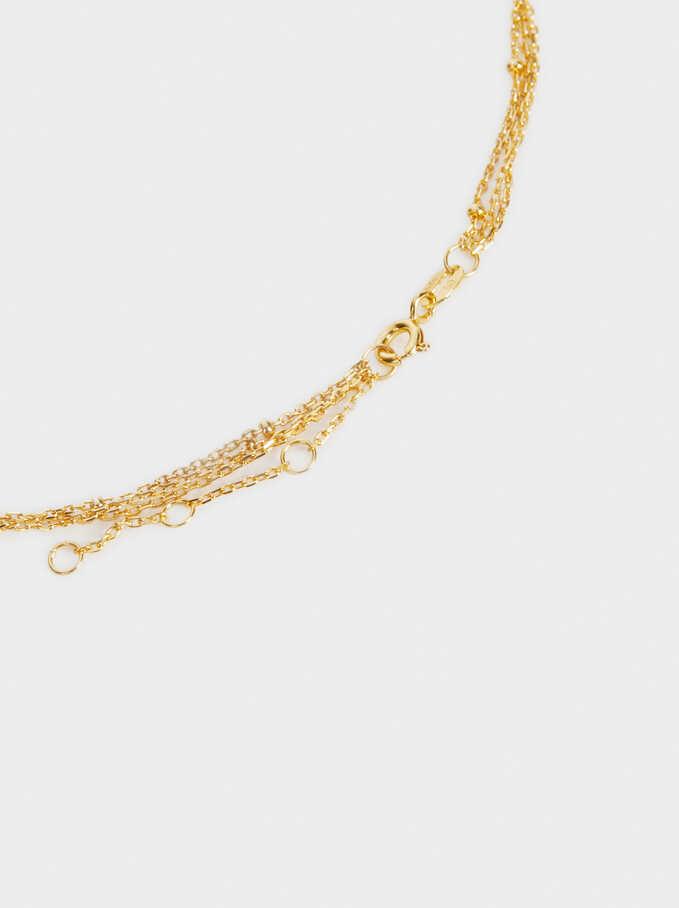 Set Of Silver 925 Necklaces, Golden, hi-res