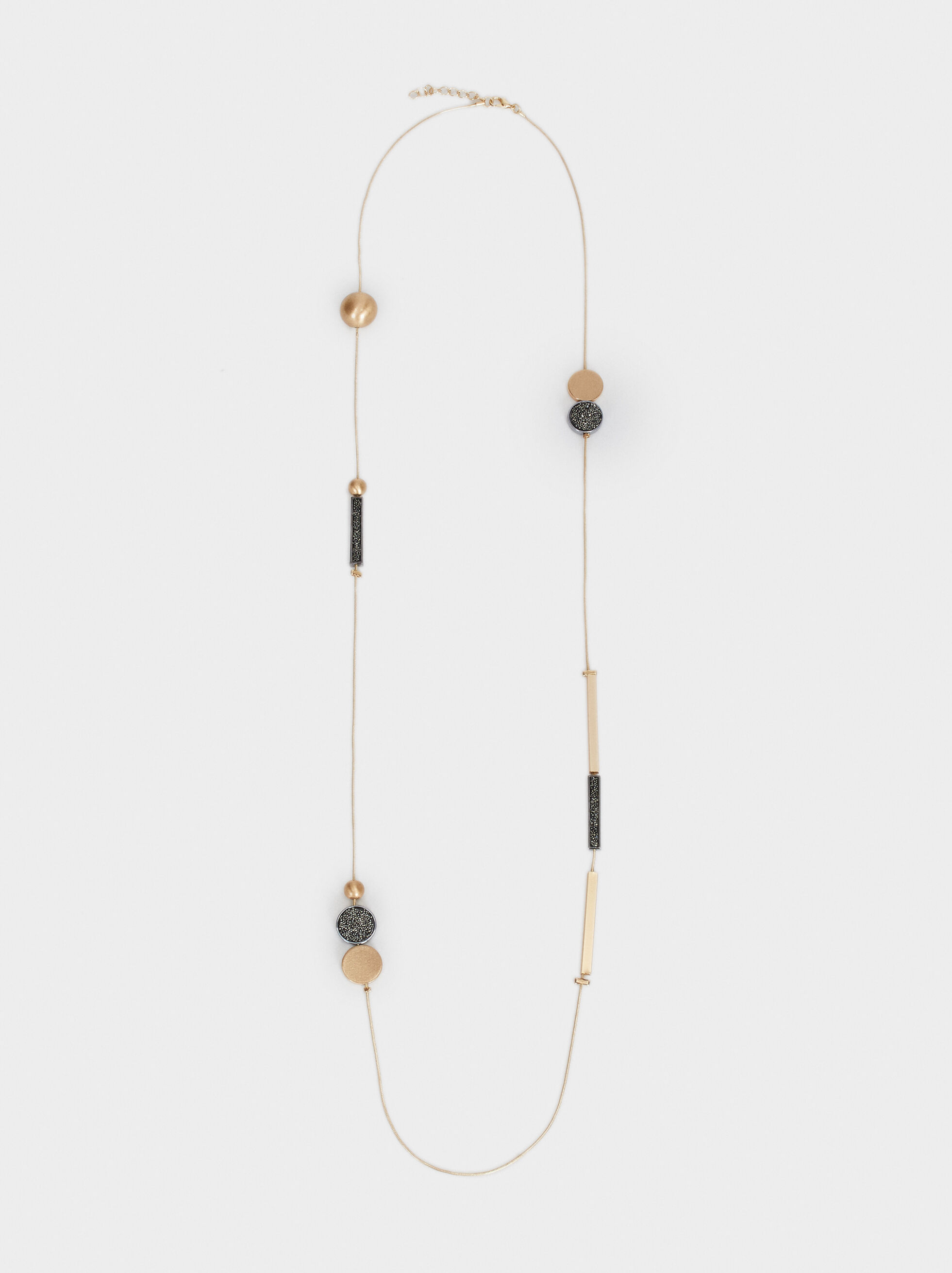 Long Two-Tone Necklace, , hi-res