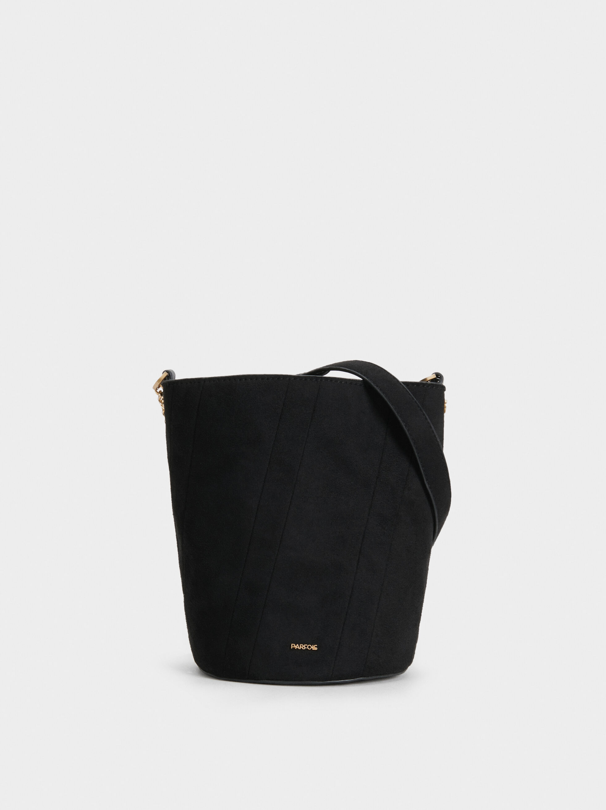 Faux Suede Bucket Bag, , hi-res