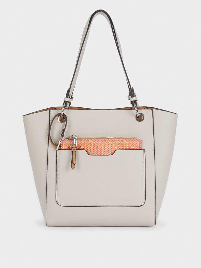 Bolso Shopper Reversible Con Interior Extraible, Crudo, hi-res