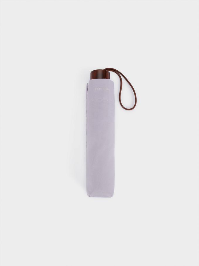 Small Folding Umbrella, Violet, hi-res