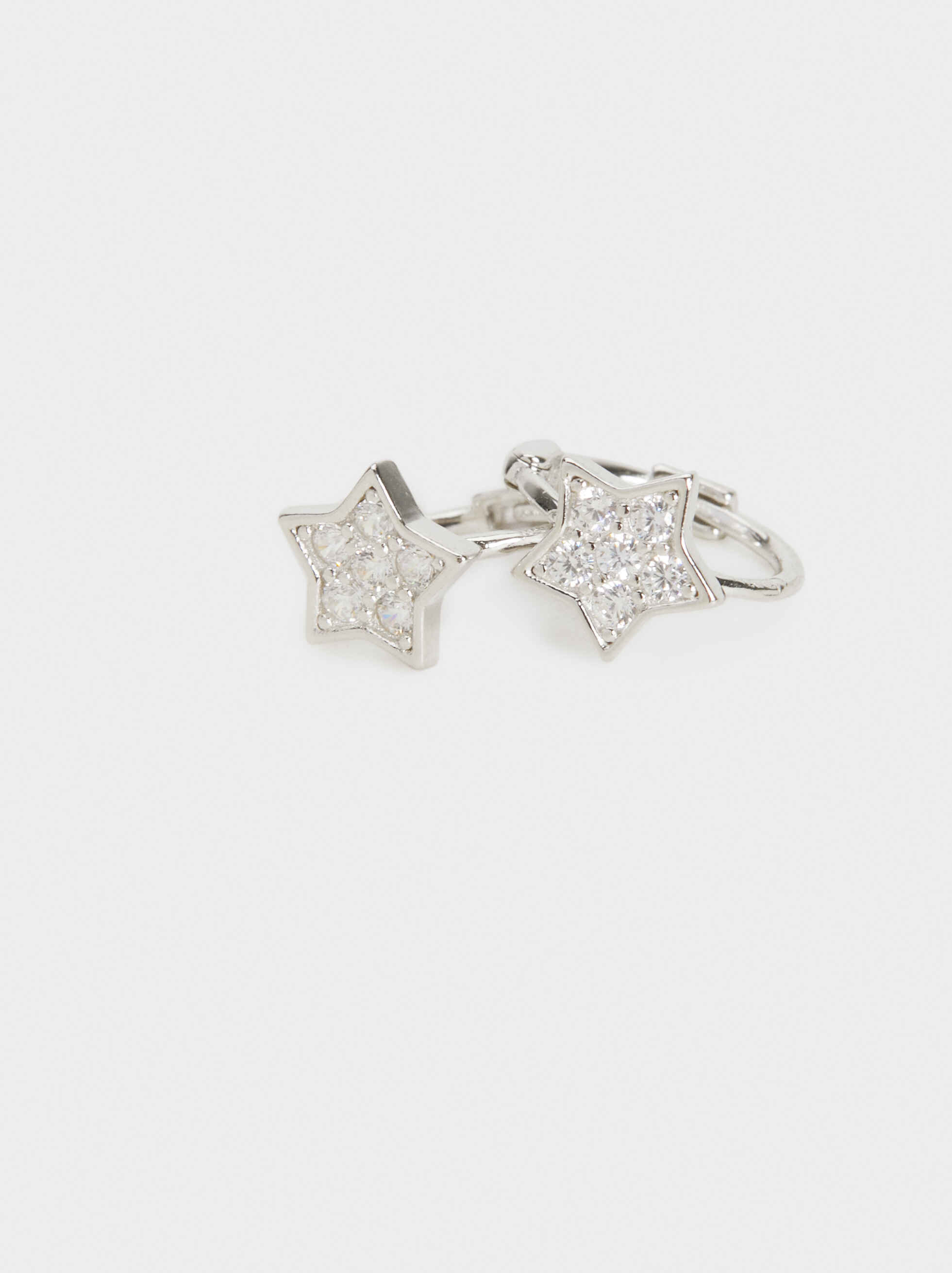 925 Silver Star Studs, Silver, hi-res