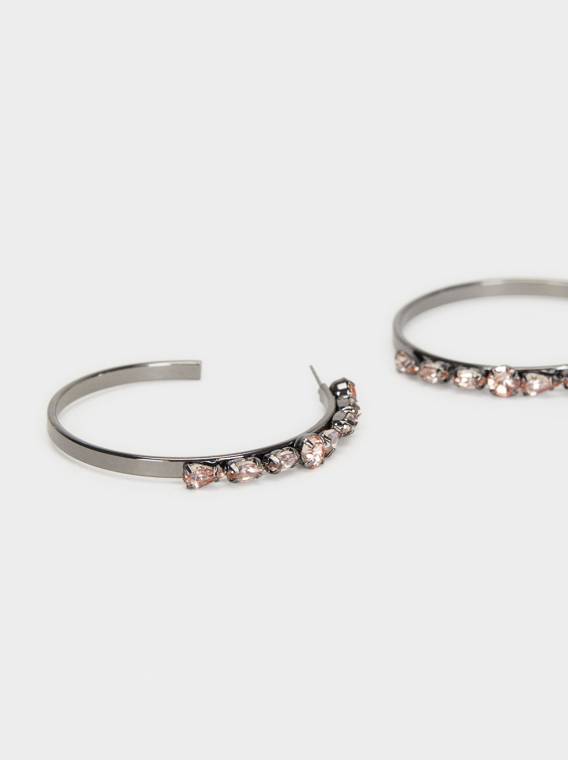 Cosmic Pink Long Hoop Earrings , Multicolor, hi-res