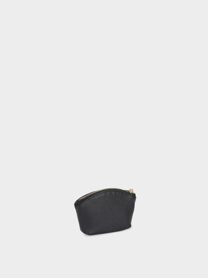 Small Plain Purse, Black, hi-res