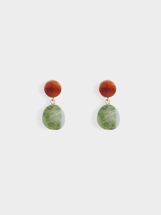 Stone Story Medium Earrings, Multicolor, hi-res