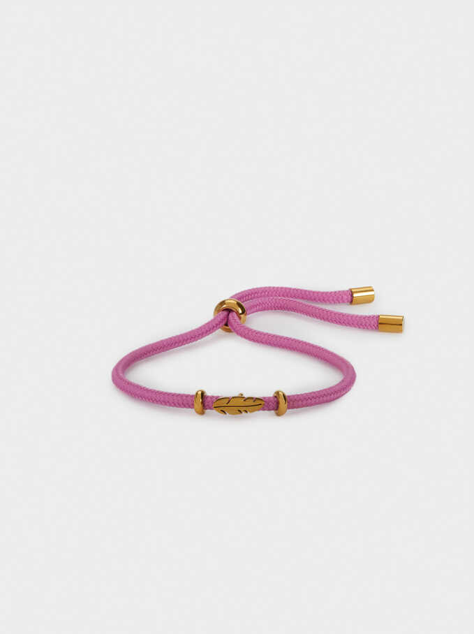Bracelet Réglable En Acier Feuille, Violet, hi-res