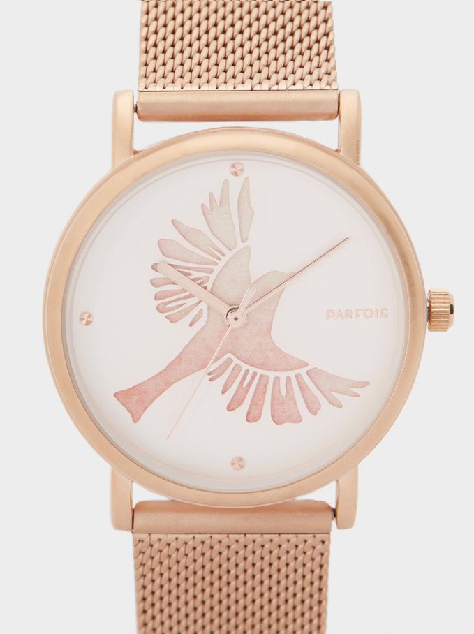 Rose Gold Watch, Orange, hi-res