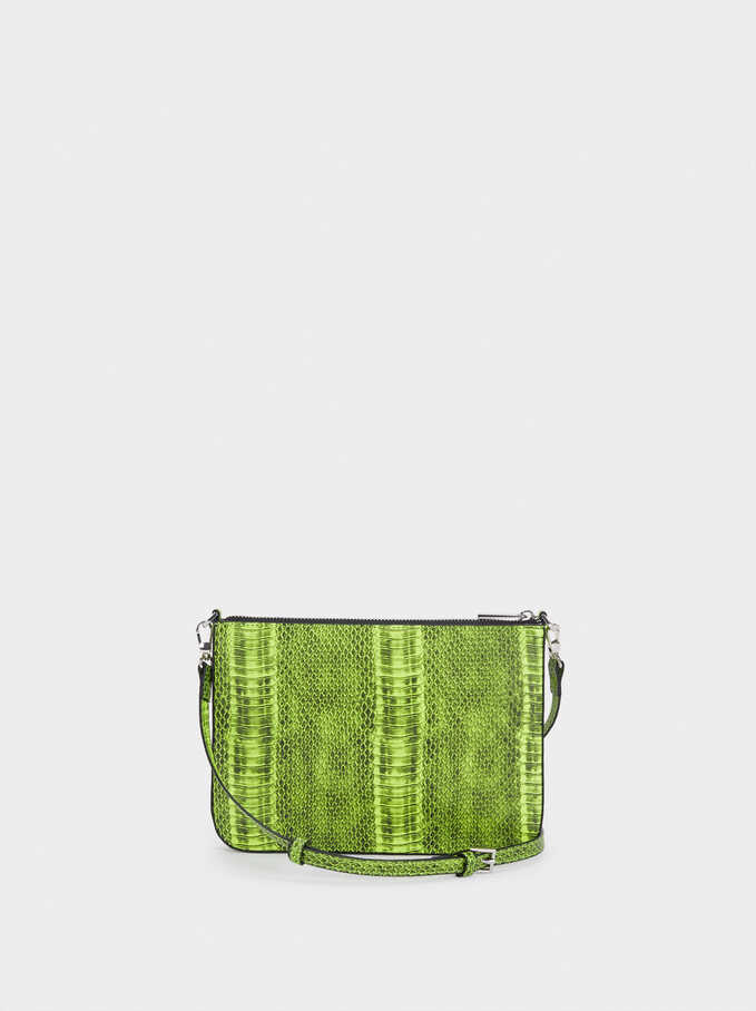 Animal Embossed Crossbody Bag, Yellow, hi-res