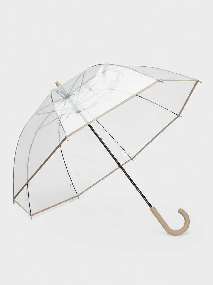 Transparent Umbrella, Grey, hi-res