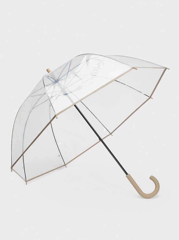 Paraguas Transparente, Gris, hi-res