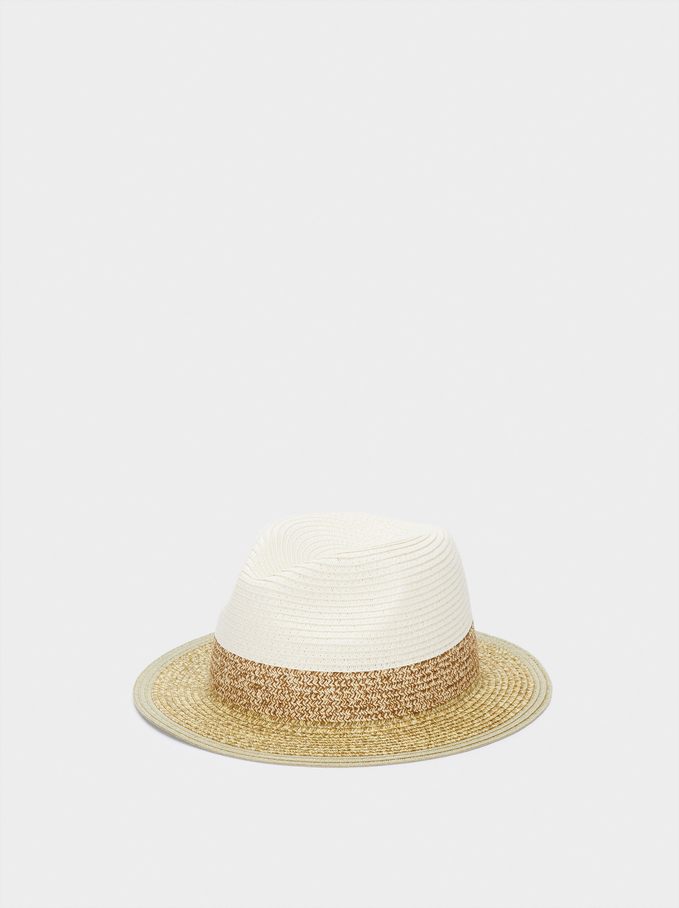Woven Hat, Beige, hi-res