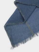 Wedding Scarf With Shimmer Thread, Blue, hi-res