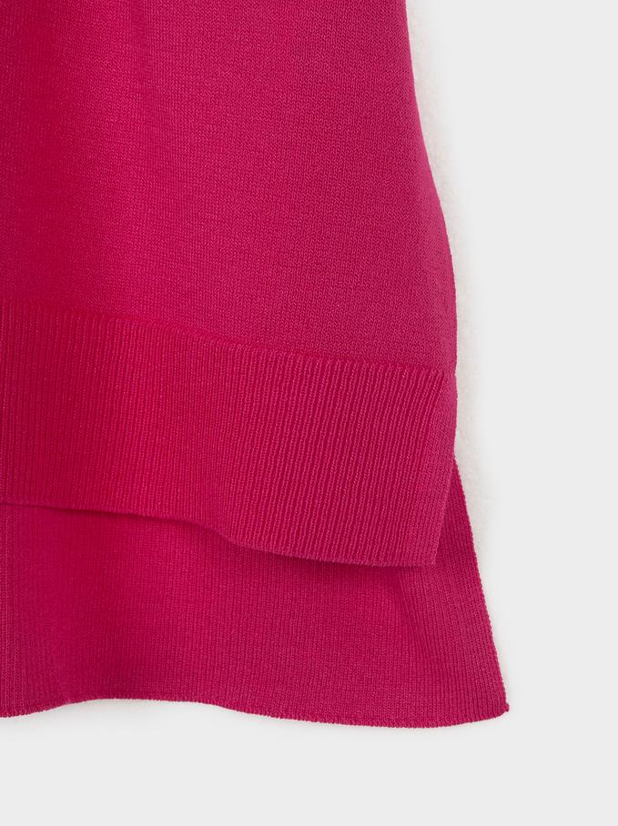 Sweater Decote Em Bico, Rosa, hi-res