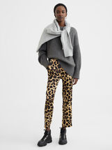 Animal Print Trousers, , hi-res