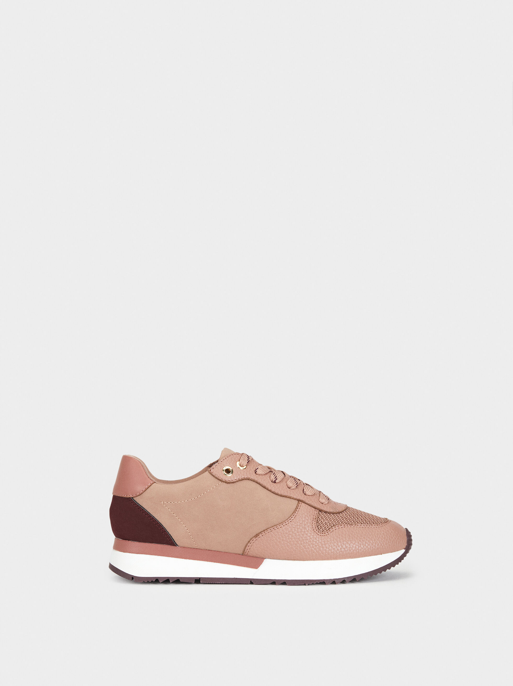 Colour Block Trainers - Nude - Woman