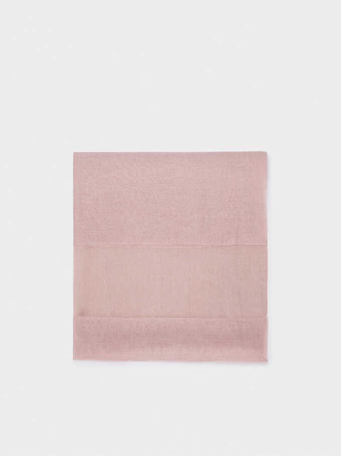 Plain Wedding Scarf, Pink, hi-res