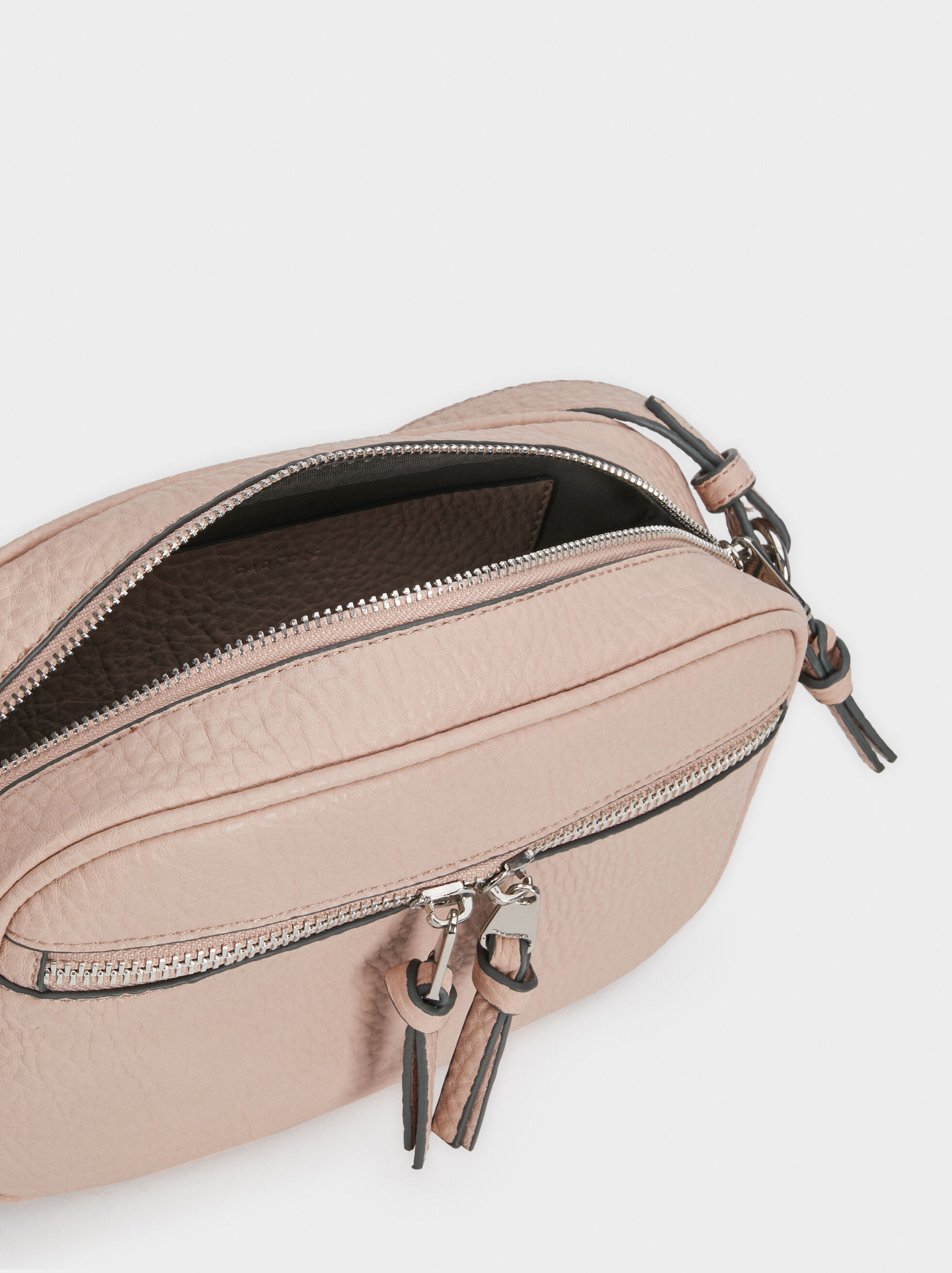 Crossbody Bag With Outer Pocket, Pink, hi-res