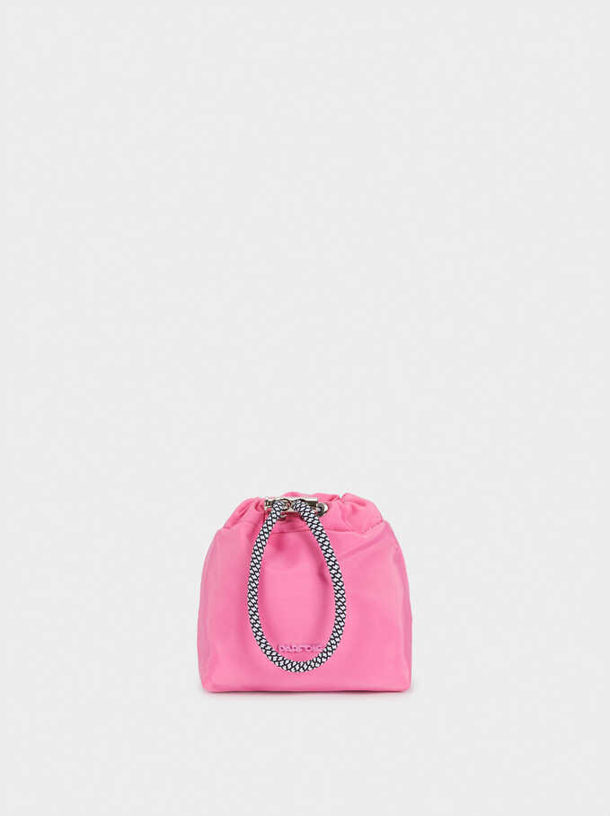 Nylon Plain Coin Purse, Pink, hi-res