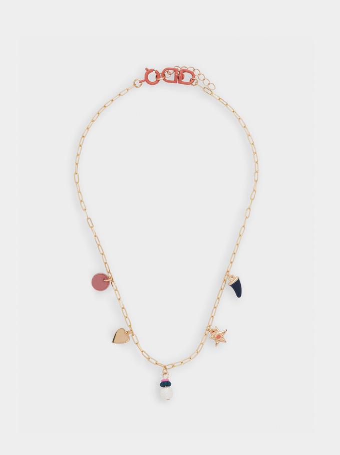 Collana Corta Con Perle E Perline, Multicolore, hi-res