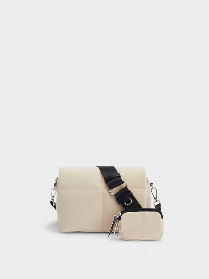 Quilted Crossbody Bag, Ecru, hi-res