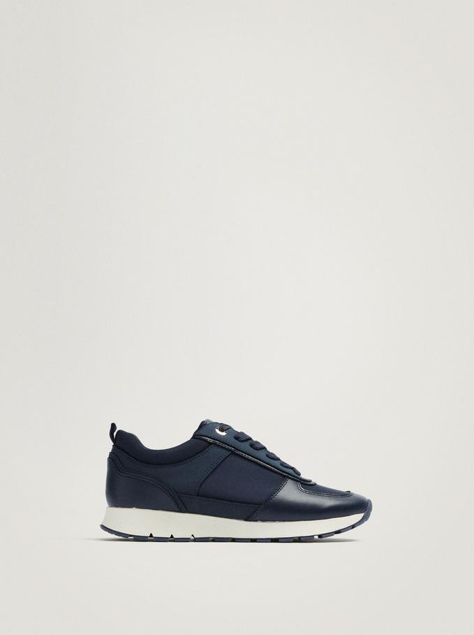 Contrast Sneakers, Navy, hi-res