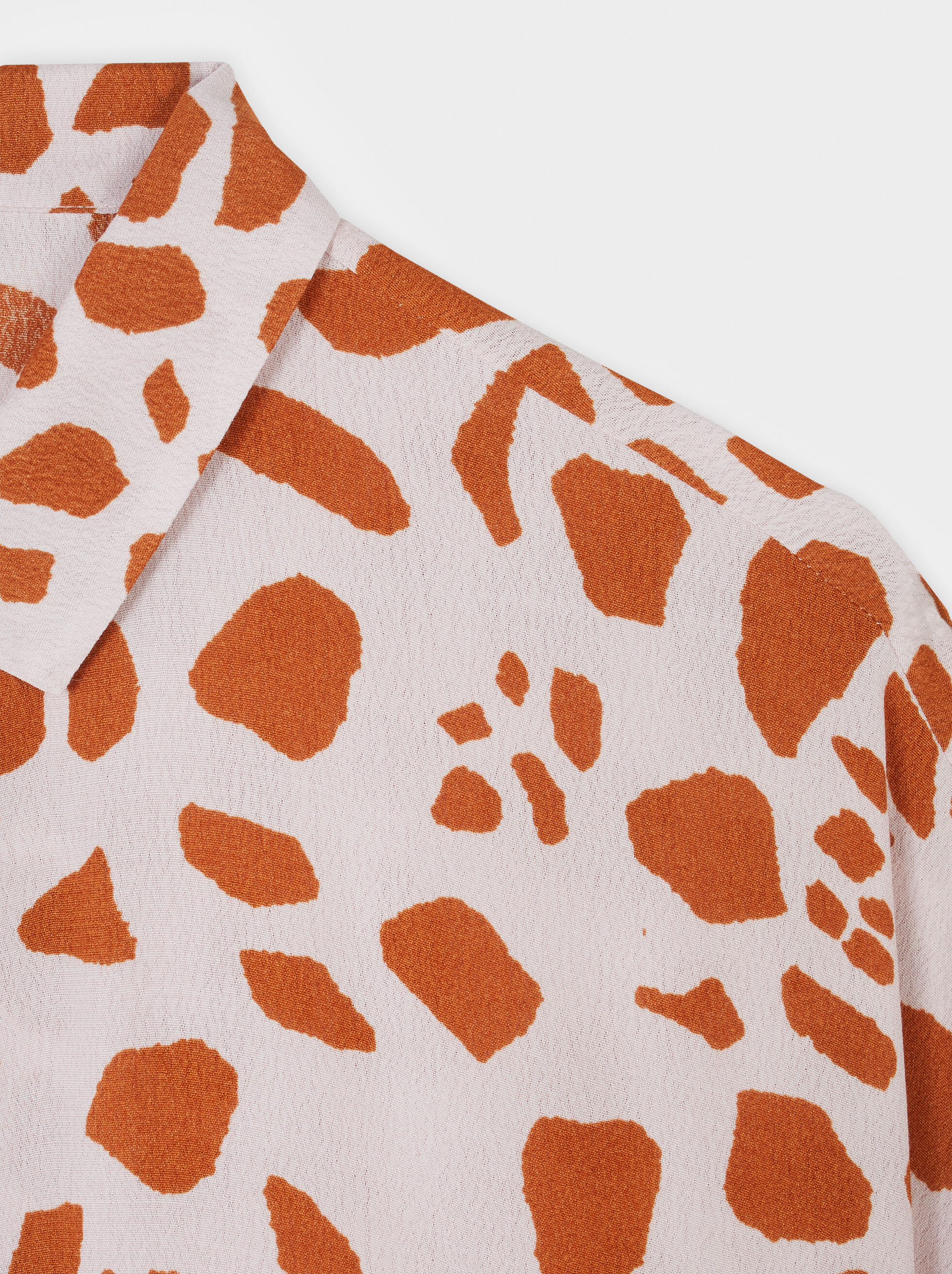 Animal Print Oversized Shirt, Pink, hi-res